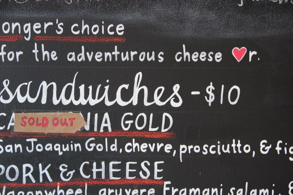 "Mission Cheese was busy enough to sell out of the California Gold sandwich. ""It's been a busy lunch,"" said an employee."