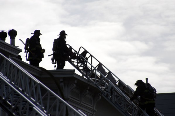 Some 150 firefighters responded to a three-alarm fire near 23rd and Capp streets on Saturday.