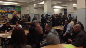 Hundreds of community organizers gathered at Everett Middle School to put together a plan to end gun violence in the Mission.