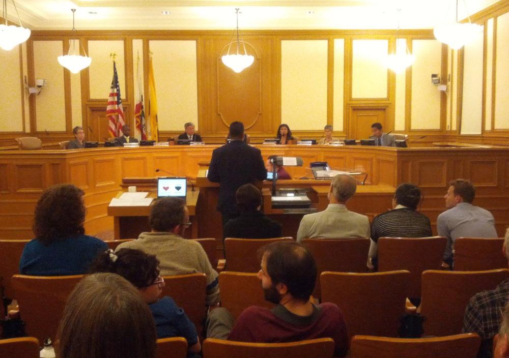 The Board of Appeals hears testimony on Jack Spade in August 21 hearing.