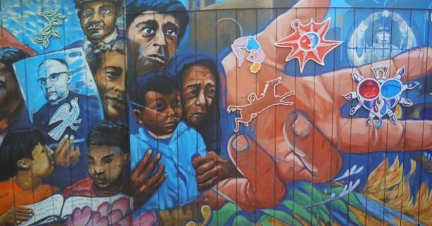 This mural commemorates Archbishop Romero. Photo by Erica Hellerstein.