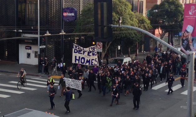 Anti-Cop Eviction Protesters March Down Mission With Cop Escort