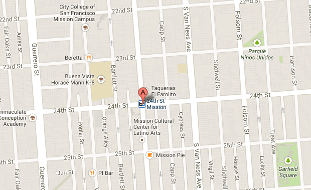 The mugging took place at 1 a.m. at 24th and Mission Street.
