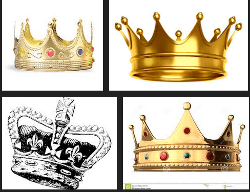 Screenshot of Google search for king crowns. Which one do you like?