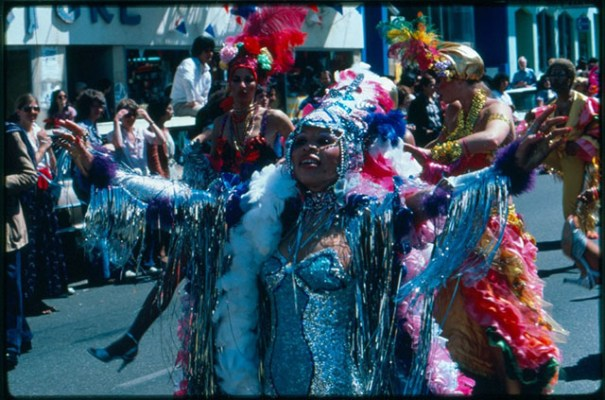 Marlena, a Brazilian dancer and actress, showed off her flashy dance moves at Carnaval in 1979. Photo by Lou Dematteis