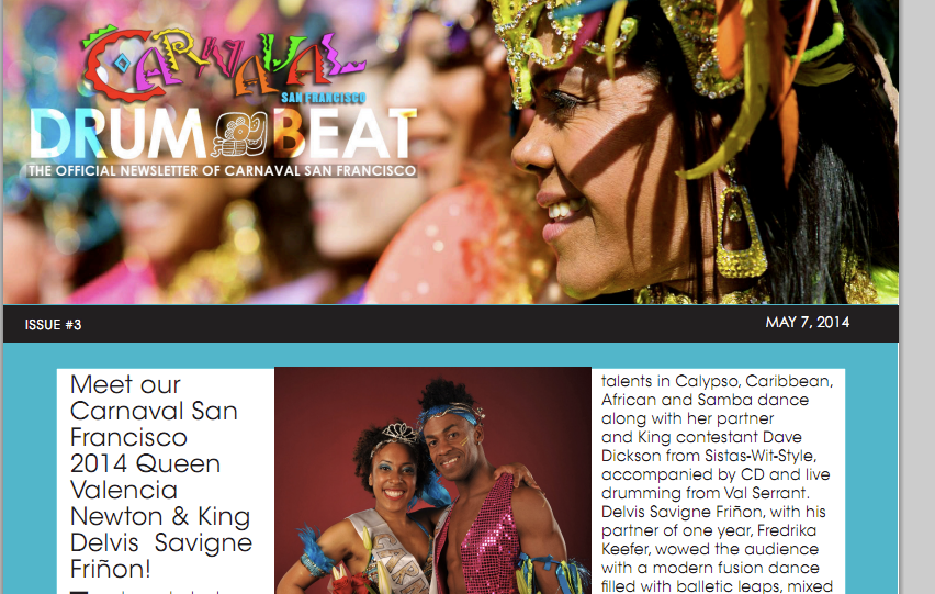 Photo taken from Drumbeat's official newsletter.
