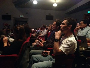 The audience at the Victoria Theater. Photo by Lydia Chávez