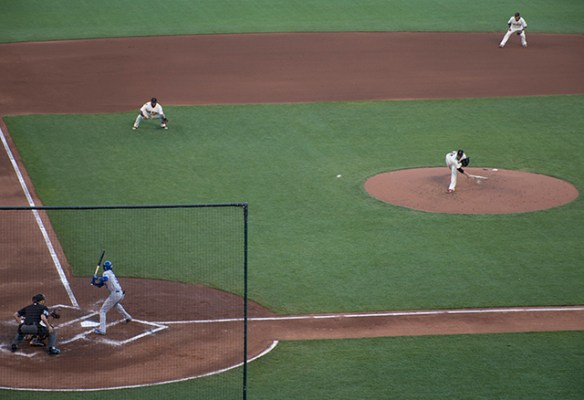 Like Lincecum, Vogelsong looked good until the fifth inning. By Lola M. Chavez