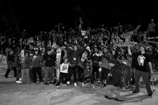 A memorial for Malcolm Armstrong at Potrero Del Sol skate park. Photo by Zak Segura.