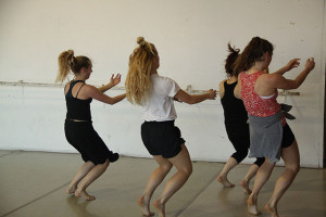 Rehearsal for Kristin Damrow's piece at Dance Mission Theater.