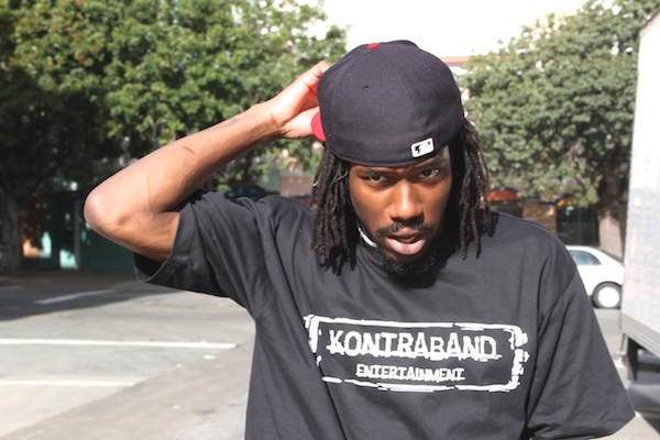 CEO of Kontraband Beatz wearing his very own clothing line. Photo by Daniel Mondragón