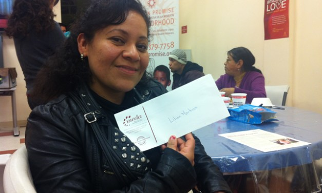 Residents Displaced by Fire Receive Checks to Start Again