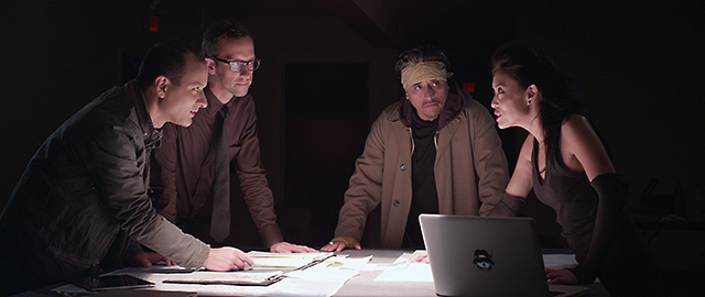 """(L-R) Sean San Jose, Christopher White, Richard Montoya and Pearl Wong in a scene from """"The Other Barrio"""".  Photo Courtesy of SF Noir Films"""