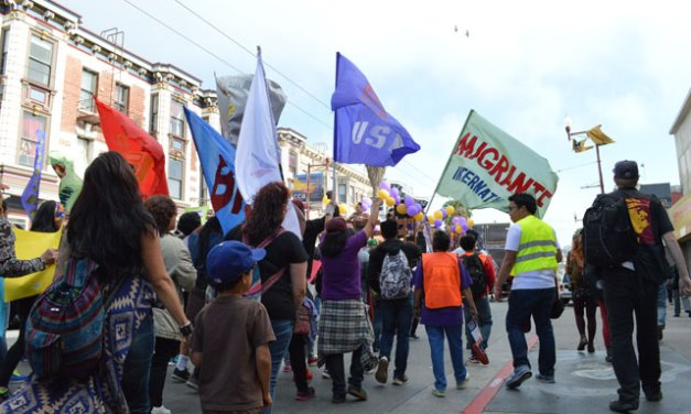 May Day Protest Moves Through the Mission