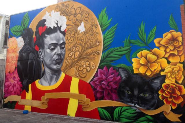 Fair Trade Fashion, New Mural at Frida's Closet in SF