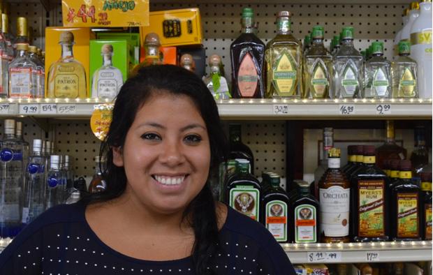Patricia , Cashier/shopkeeper, K&D Market  Photo by Ben Paviour
