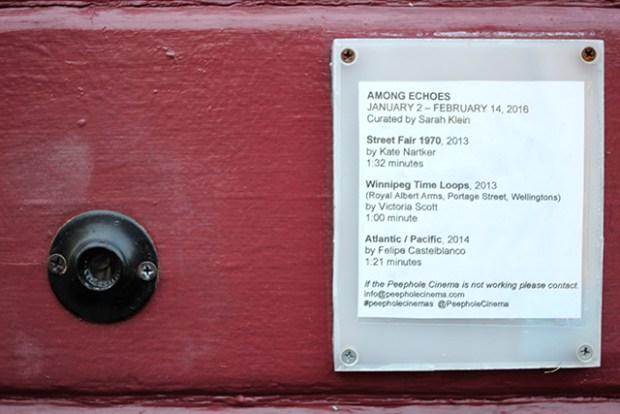 Peephole Cinema Orange Alley Films Among Echoes