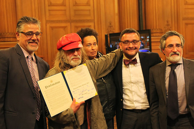 In a proclamation from the city, Diamond Dave Whitaker is recognized on February 2. Photo by Laura Waxmann