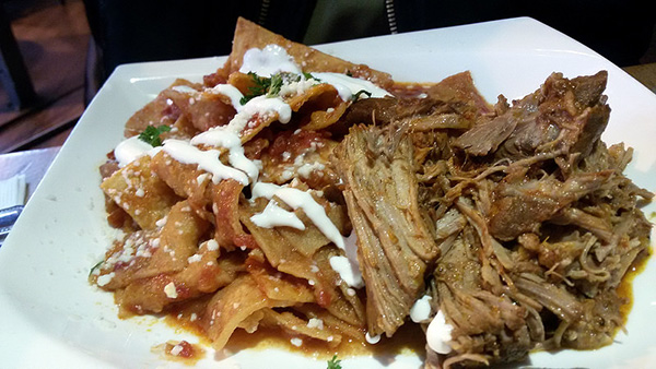 Chilaquiles pulled pork.