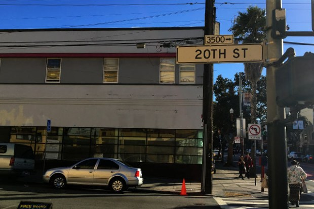 The 20 Mission building and future home of Café Laundré seen from 20th Street. Photo by Laura Wenus