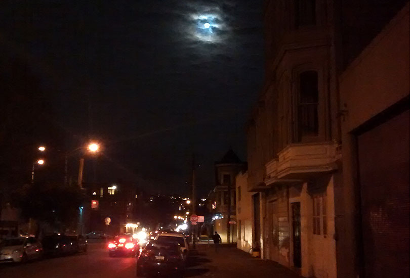 SNAP: Supermoon over the Mission