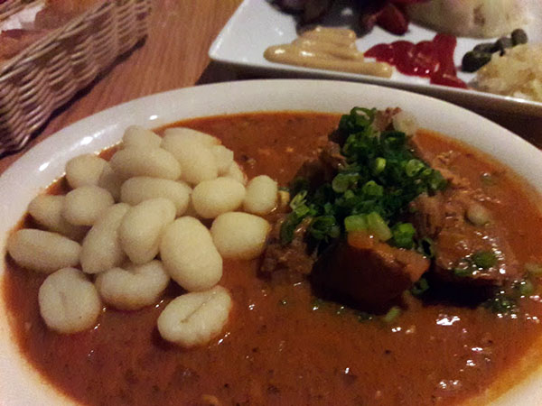 Pork Paprikash with gnocchi.