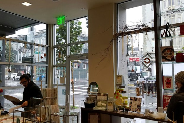 View from inside the new shop that is part of the Sutter clinic at 20th and Valencia streets. Photo by Jennifer Cohen