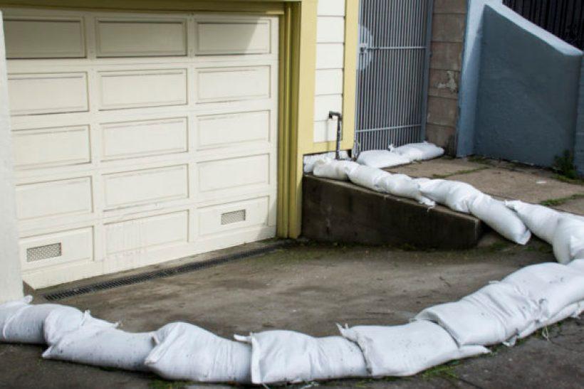 Sandbag prep. Photo by Lola M. Chavez