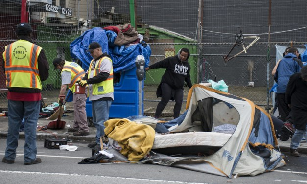 City Cleans Up SF Encampment, but Allows Tents to Stay