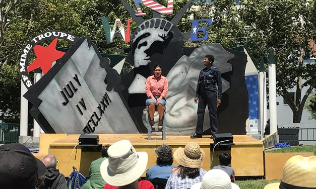 SF Mime Troupe star's fall from stage delays performances