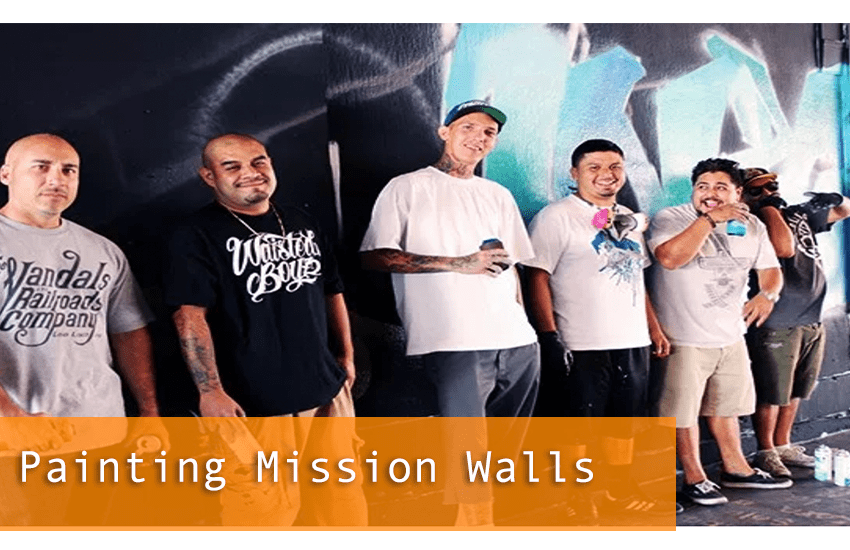 Painting Mission Walls