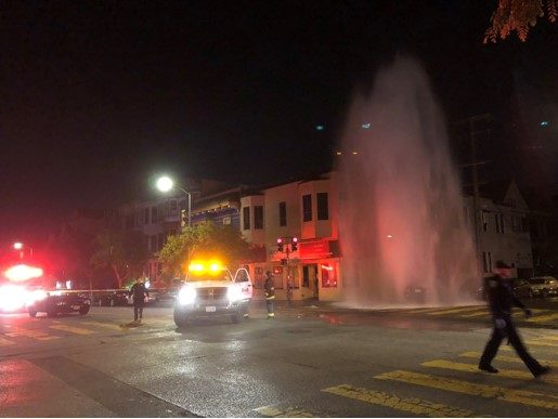 Car takes out hydrant at 21st and Folsom, creates waterfall (pics)