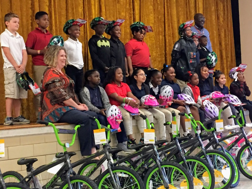 Read to Ride - Mission Marshall - George Washington Carver Elementary Marshall, TX - Students Receiving Bicycles