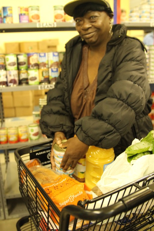 Mission Marshall Food Pantry Client Shopping