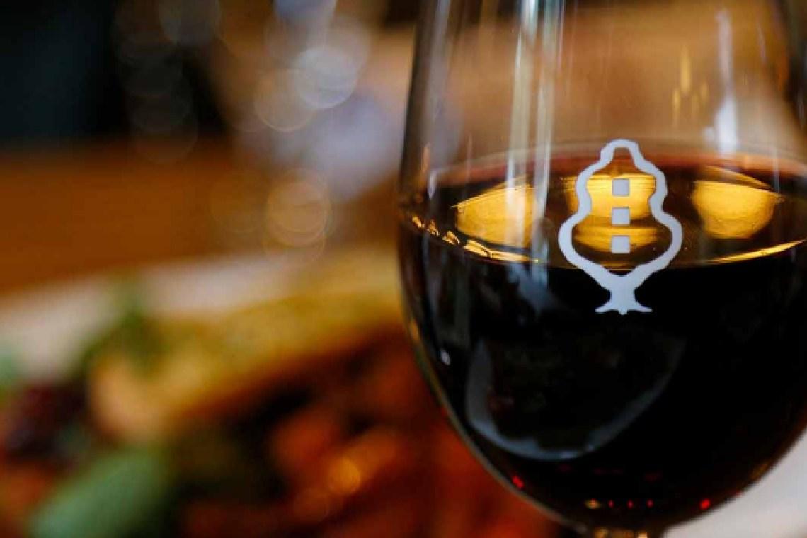 Mission Oak Grill Wine Glass