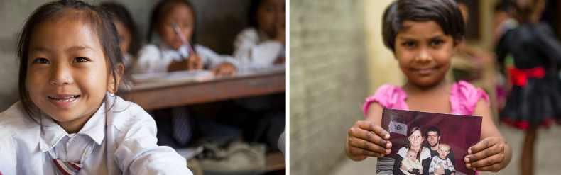 Girls that received sponsorship for education