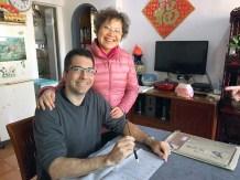 Avec mon premier professeur à Canton.