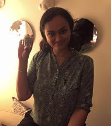 Mrinalini Kamath shows off her present