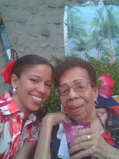 Flor De Liz Perez with her Grandmother, Hortencia, in Corona, Jackson Heights