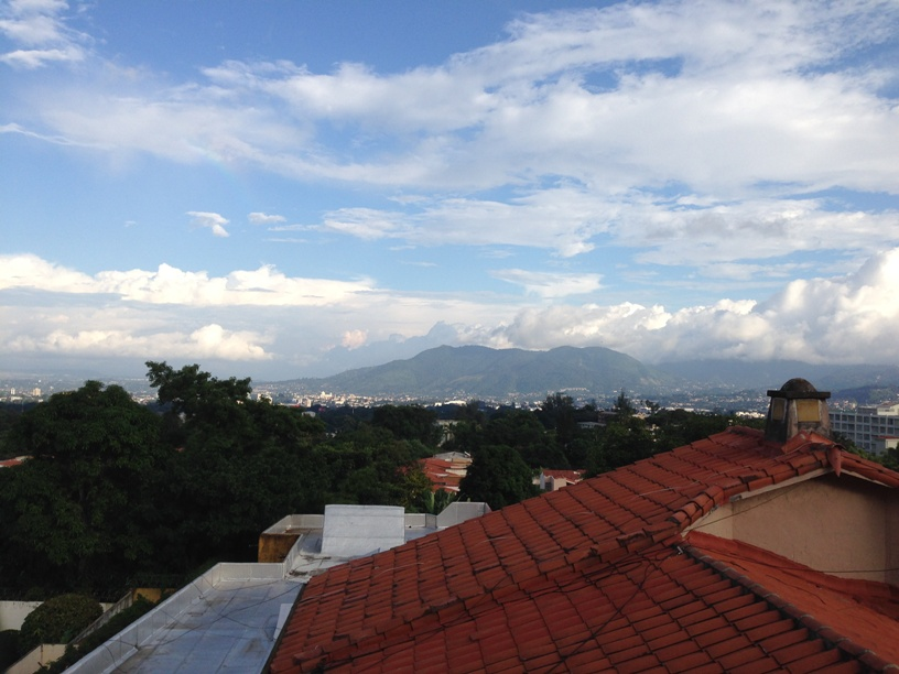 Guesthouse rooftop view