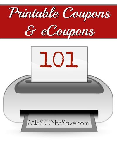 Printable Coupons and eCoupons 101