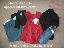 Sears Outlet Stores Free Apparel Tuesday Items