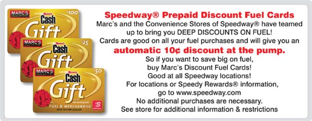 Marc S Discounted Speedway Gas Gift Cards Mission To Save