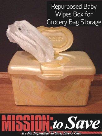 repurpose wipes box