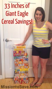 giant eagle cereal sale