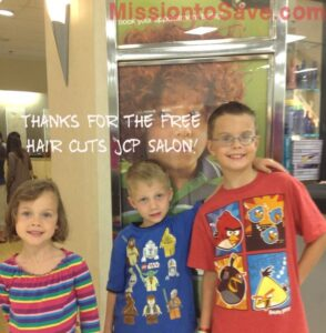JCPenney Free Haircuts for Kids