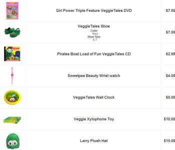 Veggie Tales Sale Items
