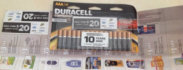 Free batteries at Staples