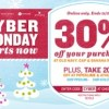 Cyber Monday at Old Navy, Gap, Banana Republic- 30% Off thru 11/26