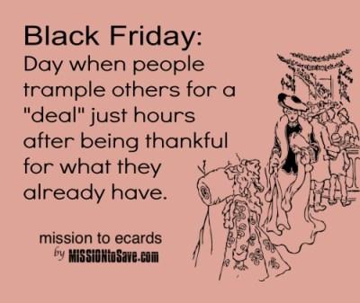 Black Friday ecard humor